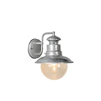 Lucide Figo Vintage Round Aluminum Zinc And Grey Wall Light