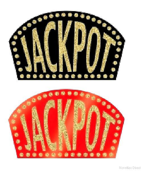 Glittered Casino Jackpot Sign (1 In A Pack)