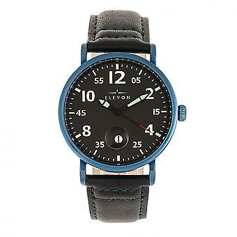 Elevon Von Braun Leather-Band Watch w/Date - Blue/Black