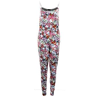 Mesdames sangle réglable multicolore floral stretch Combinaison de All in one femmes