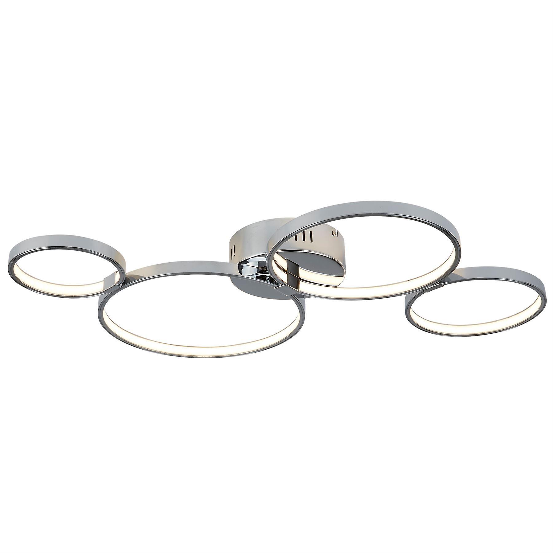 Solexa Chrome Four lumière LED Flush Fitting - Searchlumière 2004-4CC