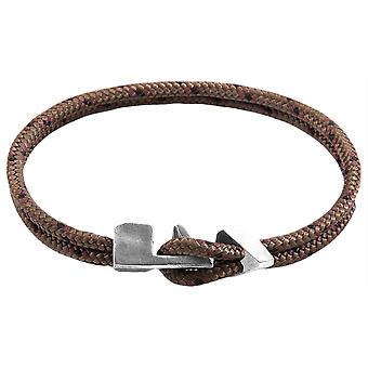 Anchor and Crew Brixham Rope Bracelet - Brown/Black