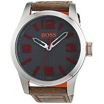 Hugo Boss Orange 1513351 quartz watch for men, classic analog display and leather strap