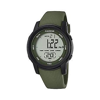Calypso K5698/4-Unisex wristwatch, plastic, color: Green