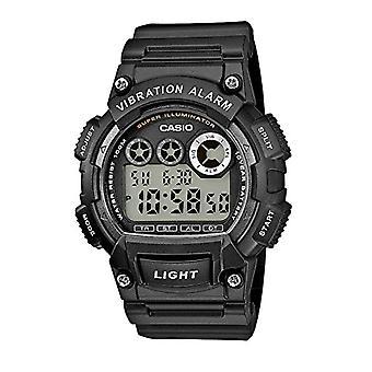 Casio digital watch with black resin strap W-735H-1av