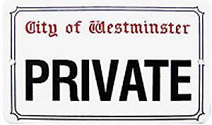 Private enamelled steel sign