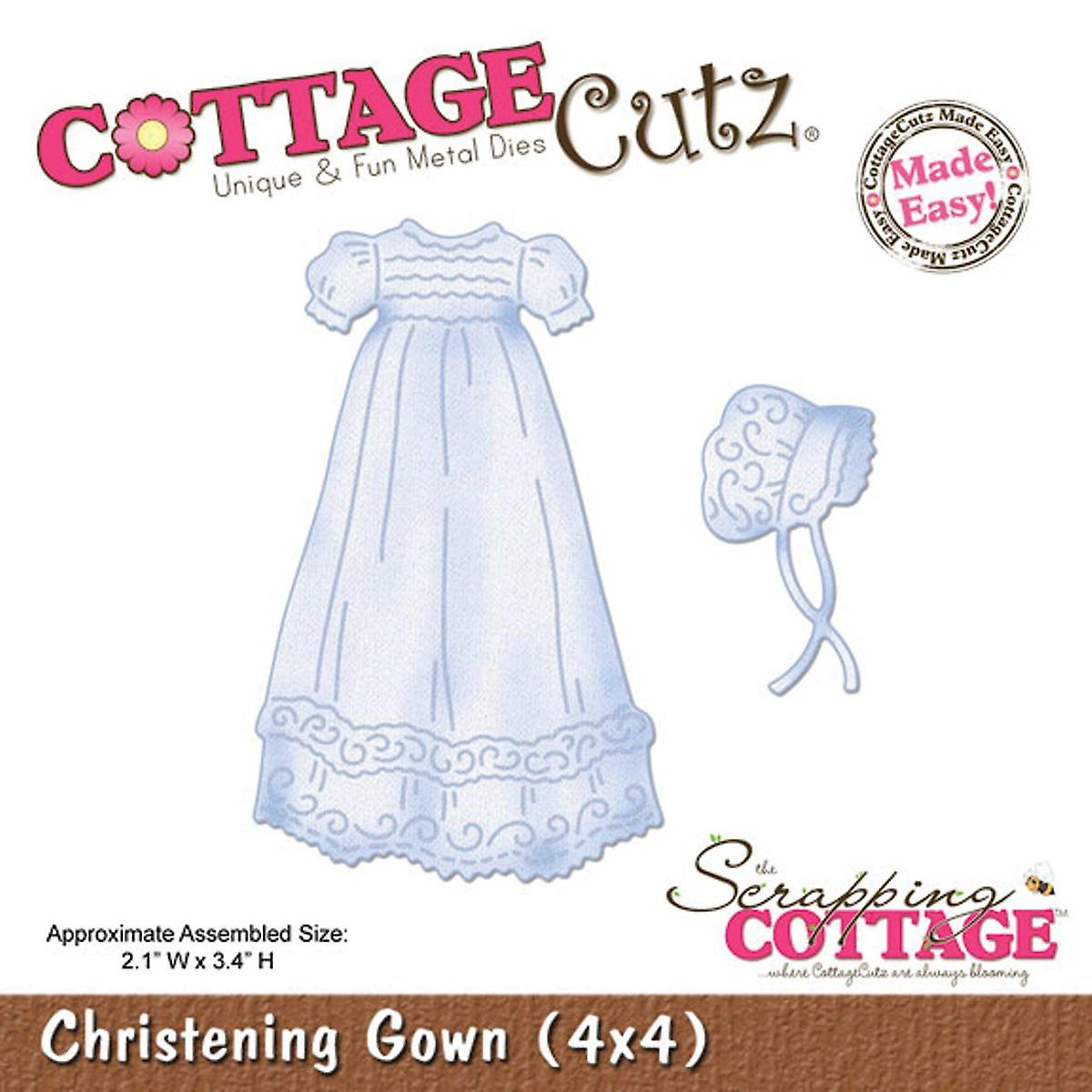 CottageCutz Die-baptême robe 2.1& 034; X3.4