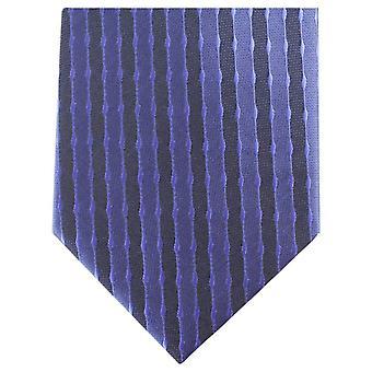 Knightsbridge cravates à rayures régulière cravate Polyester - marine