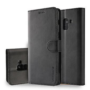 LC. IMEEKE Wallet Case for Samsung Galaxy A8 (2018)-Black