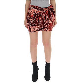 Alexandre Vauthier Red Glitter Skirt