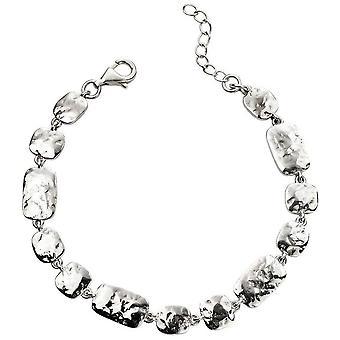 Beginnings Hammered Multi Link Bracelet - Silver