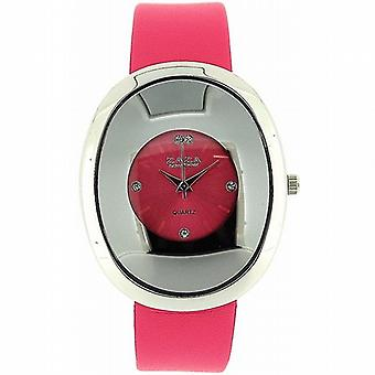 Zaza London Oval formet Pink Dial damer mode ur LLB857