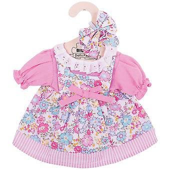 Bigjigs Toys Pink Floral Rag Doll Kleid (34cm) weich Ragdoll Outfit
