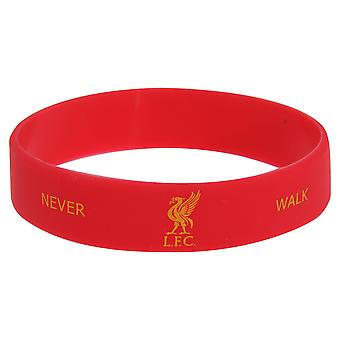 Liverpool FC Official Single Rubber Football Crest Wristband