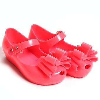 Melissa Shoes Mini Ultragirl Triple Bow Shoes, Pink Neon