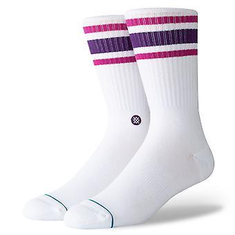 Postura incomum sólidos Mens Socks ~ Boyd 4 roxo (tamanho L)