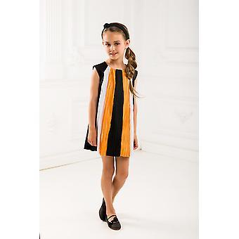 Plissierte Tricolor Mädchen verkleiden