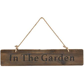 In The Garden Rustic Wooden Message Plaque