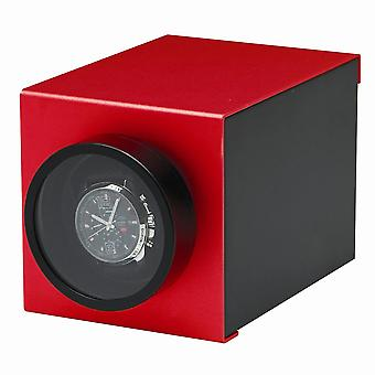 Rotations Red Wooden & Aluminum 1-watch Winder