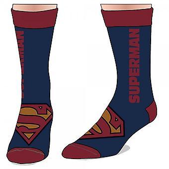 Crew Sock - Marvel - Superman - Text Logo Toys Anime Licensed cr23w4spm