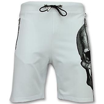 Skull Short shorts-Men's trousers-white