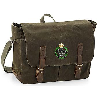 Royal Tank Regiment - Licensed British Army Embroidered Waxed Canvas Messenger Bag