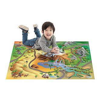 Huis van kinderen avontuur vloer spelen mat