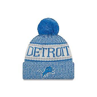 New Era Nfl Detroit Lions 2018 Sideline Sport Knit