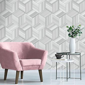 Belgravia Hudson Geometric Stripe Smooth Paper Retro Geo Wallpaper 9792