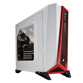 Corsair spec-alpha case tower atx white/red (with side window transparent)