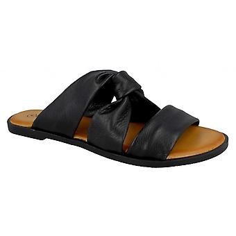 Leather Collection Womens/Ladies Leather Strappy Mules