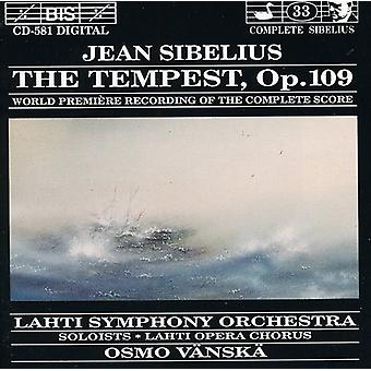 J. Sibelius - Sibelius: The Tempest, Opus 109 [CD] USA import