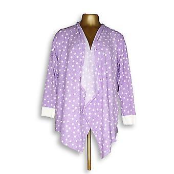 Carole hochman vrouwen ' s Petite fleece robe paars A294068