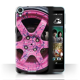 STUFF4 Case/Cover for HTC Desire 820s Dual/Pink/Purple/Alloy Wheels