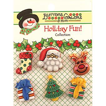 Holiday Buttons Here Comes Santa Cm 100