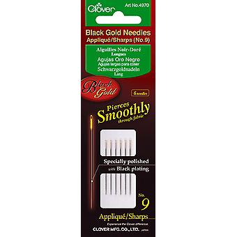 Black Gold Applique Sharps Needles Size 9 6 Pkg 4970