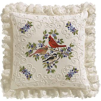 Oiseaux et petits fruits Candlewicking broderie Kit 4 0771 14 « X 14 »