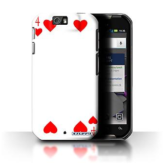STUFF4 Case/Cover for Motorola IronRock/XT626/4 of Hearts/Playing Cards
