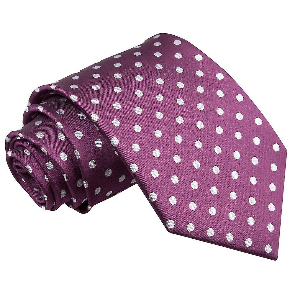 Polka Dot Purple Tie