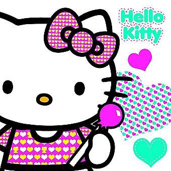 Hello Kitty oformaterad födelsedagskort