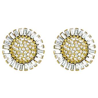 Clip On Earrings Store Starburst Flower Swarovski Crystal Stud Clip On Earrings