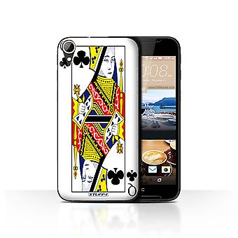 STUFF4 Case/Cover for HTC Desire 830/Queen of Clubs/Playing Cards