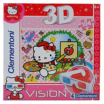 Clementoni Puzzle 104 3D Hello Kitty (Speelgoed , Bordspellen , Puzzels)