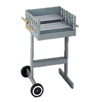 Algon Barbecue Elba 45X45Cm. Height 88 Cm. Double Grill. With Wheels.