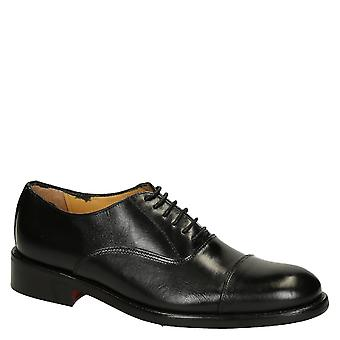 Nero vitello cuoio pianura cap toe oxfords scarpe