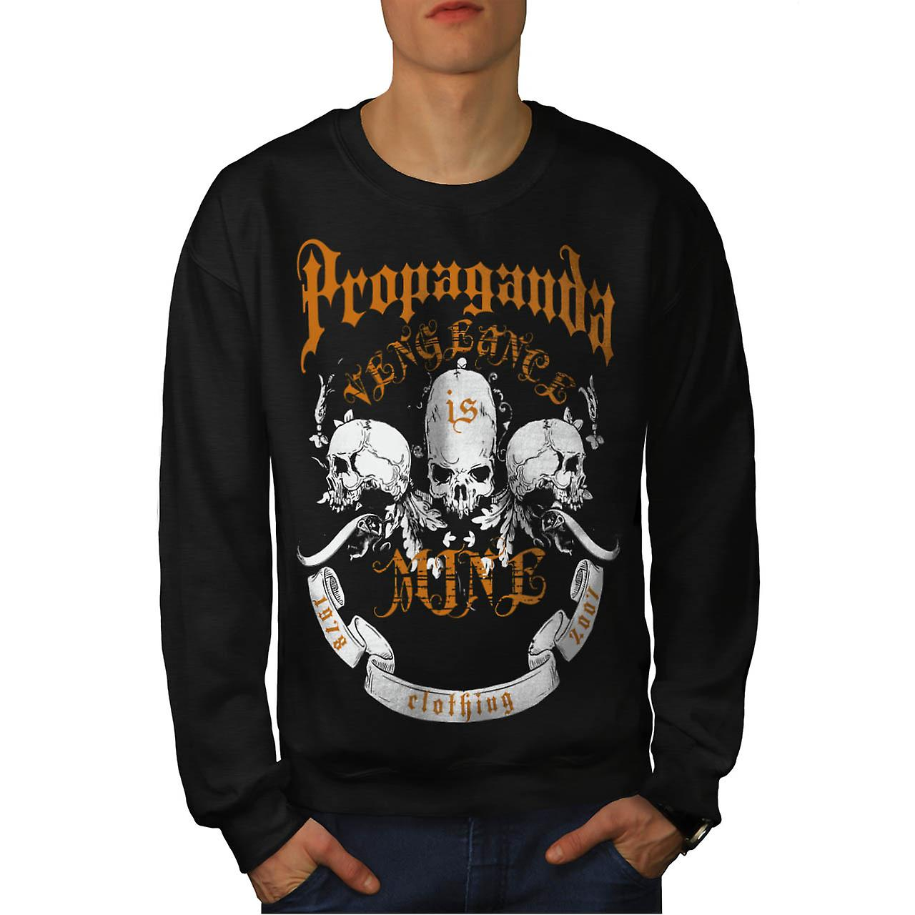 Propaganda Clothing Vengeance Men Black Sweatshirt | Wellcoda