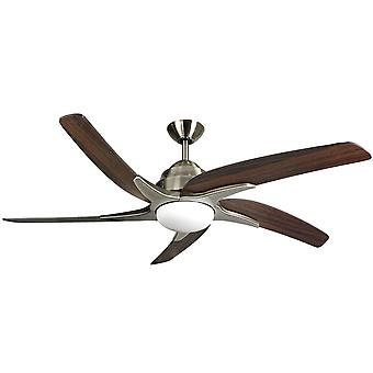 Ceiling fan Viper Plus Brass / dark Oak with LED lighting 112 cm / 44