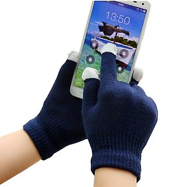 ONX3 Acer Iconia One 7 (B1-770) Universal Unisex One Size Winter Touchscreen Gloves For All Smartphones / Tablets (Navy Blue)
