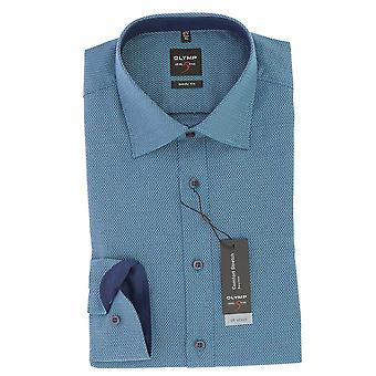 Olympus business shirt turquoise new Kent collar body fit comfort stretch size 41
