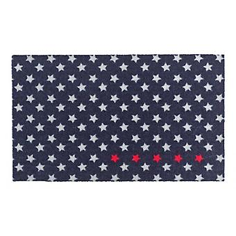 Doormat dirt trapping pad of five stars dark blue magenta white 50 x 70 cm